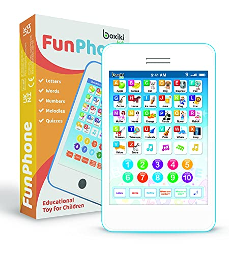 Learning Pad / Kids Phone with 6 Toddler Learning Games. Touch and Learn Toddler Tablet for Numbers, ABC and Words…