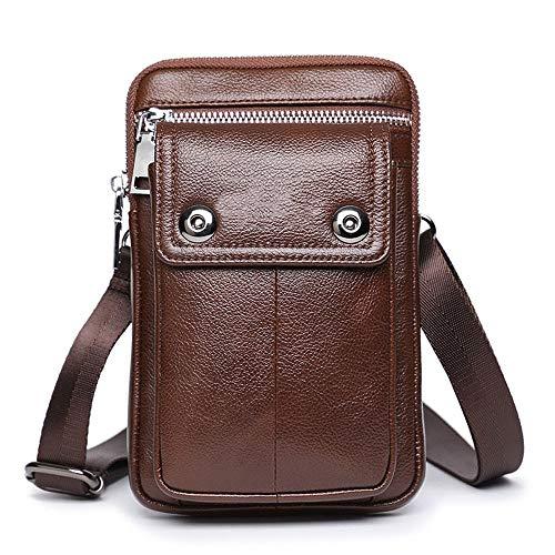 7 Bolsos Desgaste la 2018 de Hombres Mini Nuevos Cuero móvil ZQ los Cuero cinturón de de Bolsa Bolsa del de teléfono de Bag pequeña de Pulgadas Messenger de Bolsillos Yd61wfq