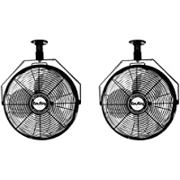 Air King 18 1/16 HP 3-Speed Non-Oscillating Enclosed Ceiling Mount Fan (2 Pack)