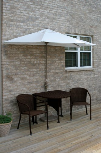 Terrace Mates Genevieve 42 in. 5 Pc Folding Sunbrella Set (Natural)