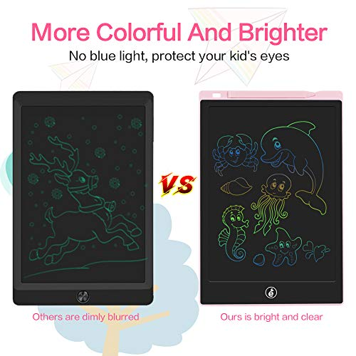 JefDiee LCD Writing Tablet Drawing Board, 11-Inch Colorful Screen Electronic Drawing Pad for Kids Doodle Board Writing Pad Gifts for Kids at Home, School and Office (Pink)