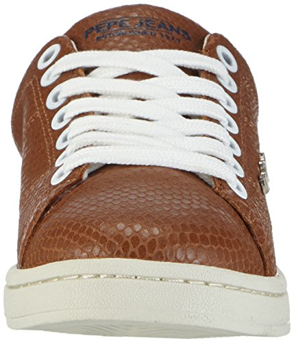 Pepe Club Marrone Jeans braun Donna Basse 877nut Sneaker Snake Brown w1CRqwA