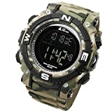 [LAD WEATHER] Powerful solar digital watch Sports Military Lap Split men's watch