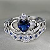 Sumanee Micro Design Crystal Women Heart For Double Layer Rings Love Jewelry Crown (10)