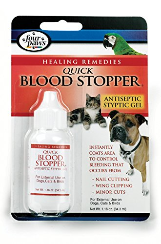 Four Paws Pet Quick Blood Stopper Gel, 1.16 oz Blood Stopper Gel