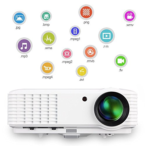 HD LCD LED Outdoor Theater Projector 3500 Lumen with HDMI USB Audio AV Multimedia 1280x800 Native 1080P 720P Video Projectors