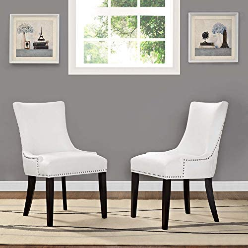 Modway Marquis Modern Faux Leather Upholstered Two Dining Chair