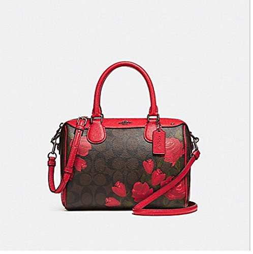 COACH MINI BENNETT SATCHEL WITH CAMO ROSE FLORAL PRINT, - Handbags Camouflage Coach