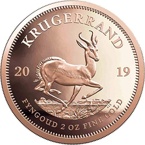 2019 ZA Modern Commemorative PowerCoin KRUGERRAND 2 Oz Gold Coin 2 Rand South Africa 2019 Proof ()