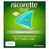 Nicorette Chewing Gum Orginal 2mg Quantity 210