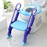 Potty Toilet Trainer Seat with Step Stool Ladder, (3 in 1) Trainer for Kids Toddlers with Handles.