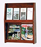 Wooden Mallet Slope 8 Pocket Literature Display Rack 2Hx4W Mahogany electronic consumers