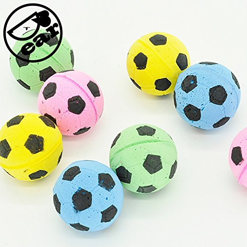 Ball Design Foam (EVA Ball 20pcs per lot Soft Foam Soccer design Play Balls For Cat)
