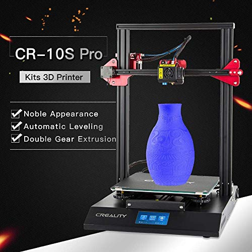 Luxnwatts Creality Upgraded CR-10S Pro 3D Printer with Touch Screen, Automatic Leveling,...