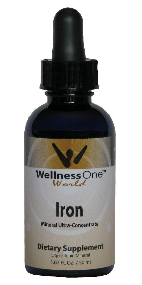 Iron - Premium Liquid Mineral (100 days at 2 mg Per 10 Drop Serving) 50 ml bottle