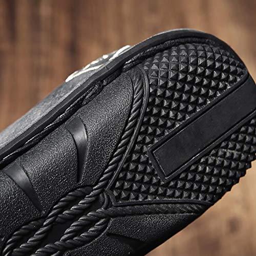 Grigie On Mocassini Scarpe Uomo Slip Gray Inverno Comfort Da E Verdi Casual Basse Traspiranti FHTD PU Nere Autunno Sneakers PBqTxx