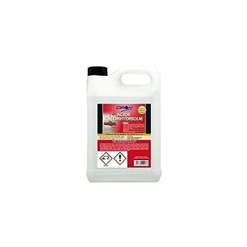 c3d89f39ac0 Charbonneaux-Brabant 010 Acide chlorhydrique 23 % 5 L Clair  Amazon ...