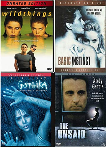 Unlock the Secrets Basic Instinct 4 Feature DVD Gothic & The Unsaid + Wild Things Movie Collection Pack