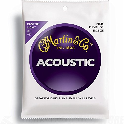 Martin M535 Traditional Phosphor Bronze Custom Light Acoustic Guitar Strings Custom Acoustic Guitar