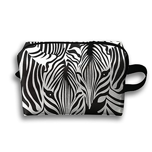 Zebra Couple Pattern Fashion Unisex Travel Bag Small Items Collect Portable Toiletry Bag Organizer Storage by Greentyha