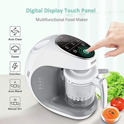 Infanso Baby Food Maker Food Processor BF300 for Infants and Toddlers 7 in 1 Organic Food Making Machine with Steam Cooker, Blender, Chopper, Defroster, Reheater, Disinfector and Auto Cleaning by InFanso (Image #1)