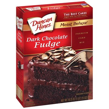 Duncan Hines Dark Chocolate Fudge Cake Mix 18.25oz (Pack of 2)