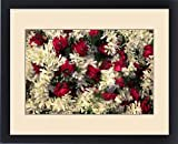 Framed Print of Asia, India, Calcutta. Floral garlands from the flower market in Calcutta