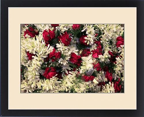 Framed Print of Asia, India, Calcutta. Floral garlands from the flower market in Calcutta by Fine Art Storehouse (Image #3)