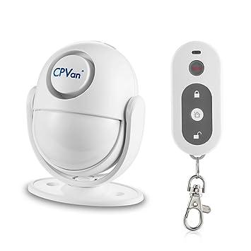 CPVAN Sensores de movimiento PIR, Detector de movimiento infrarrojo inalámbrico con Control Remoto,Sirena de 125 dB para seguridad para la casa: Amazon.es: ...