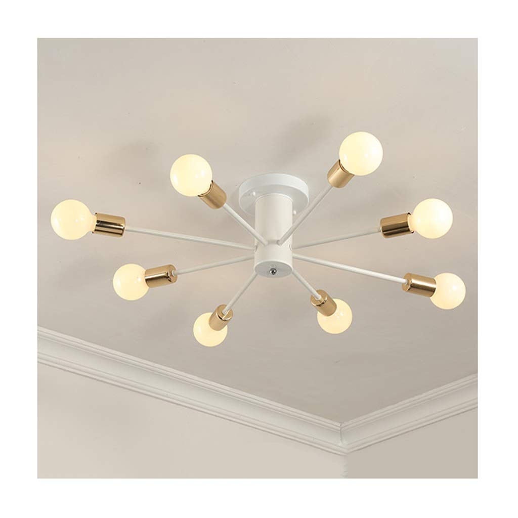 天井照明 シーリングライトシーリングランプ、シャンデリア北欧シンプル錬鉄、居間の装飾寝室オフィス衣料品店の照明[エネルギークラスA ++] シーリングライト (色 : A, サイズ さいず : つの暖かい光 5つのあたたかいひかり-8 HEADS) つの暖かい光 5つのあたたかいひかり-8 HEADS A B07SCX9SF8