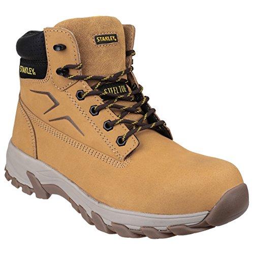 Stanley Mens Stanley Tradesman Slip Resistant SB P SRC Safety Boots Honey