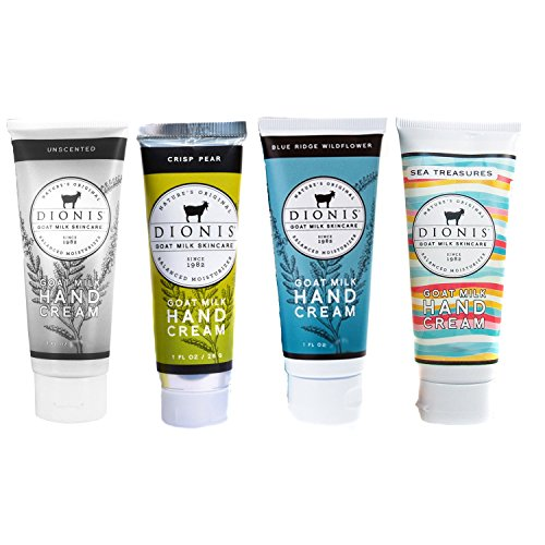 Dionis Goat Milk Hand Cream 4 Piece Travel Gift (Sweet Pea Tubes)