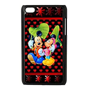Micky Mouse iPod Touch 4 Case Black as a gift A4620534