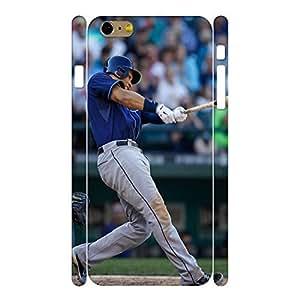 Classic Hard Sports Series Designer Print Baseball Player Print Phone Shell Skin for Iphone 6 Plus Case - 5.5 Inch