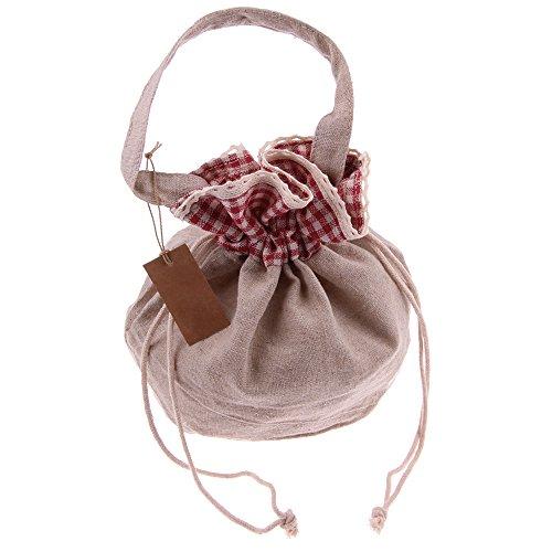 Custodia a sacchetto in lino Snykk sacchettini riquadri a quadri bianchi e rossi noorsk Sack vegan