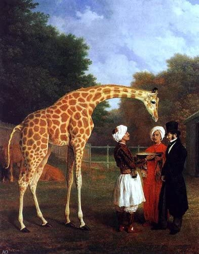 Jacques Laurent Agasse Nubian Giraffe Canvas Art Print Poster