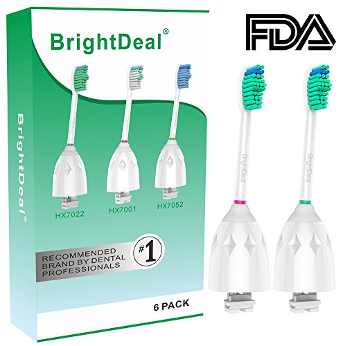 Brightdeal Replacement Brush Heads for Philips Sonicare Toothbrush E Series HX7022/66, Essence, Xtreme, Elite and Advance (6-pack) by Brightdeal (Image #5)
