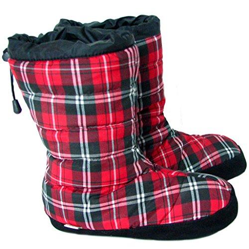 Polar Feet Puffins Red Plaid XL (Rei Womens Boots)