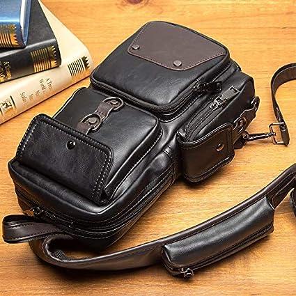 Trihedral New Mens Bag Trend Small Chest Bag Korean Version of Casual Mens Pockets Messenger Outdoor Shoulder Bag