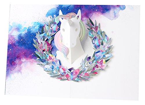 - UWP LUXE AL034 Unicorn Pop-Up Greeting Card