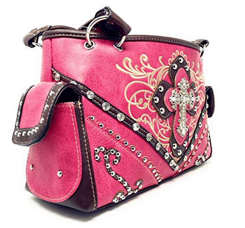 qualité à de strass main sac avec brodé Sac en à haute l'occidental brodé multiples main Pink à en couleurs pwqEIx8xf