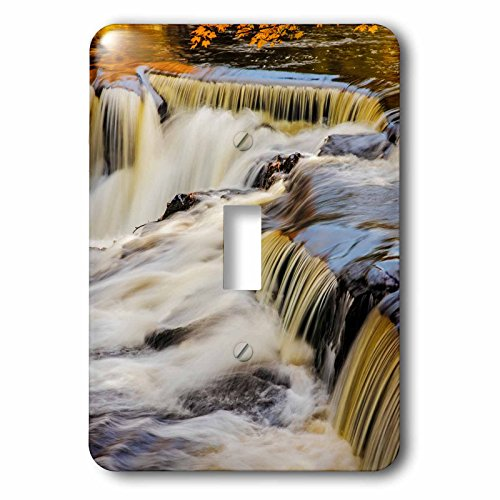 Bond Metal Clock (3dRose Danita Delimont - Waterfalls - Middle Branch of the Ontonagon River at Bond Falls Site, Michigan - Light Switch Covers - single toggle switch (lsp_279085_1))
