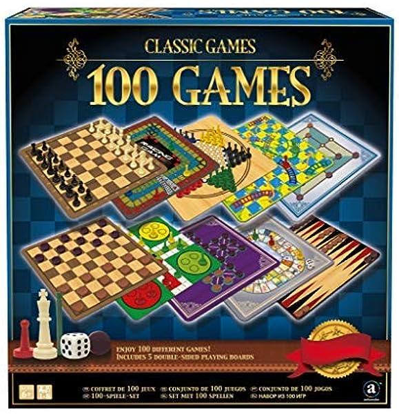 Classic Games - 100 Games - Coffret 100 Jeux de Plateau: Amazon.es: Juguetes y juegos
