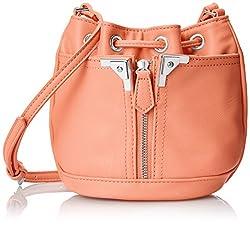 Danielle Nicole Alexa Mini Bucket Cross Body Bag, Salmon, One Size