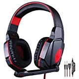 Mictech G4000 Professional 3.5mm PC Gaming Stereo Noise Canelling Headset Headphone Earphones with Volume Control Microphone For Laptop Computer with MIC (Red)