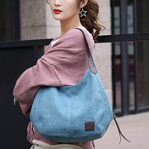 mujer Azul única Talla Behavetw para Bolso blanco Blanco al hombro xnzBIUgPq