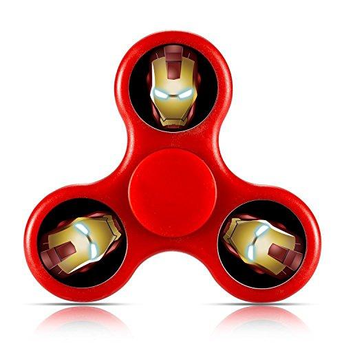 Custom Iron Man Tri-Spinner Fidget Toy Hand Spinner Black - Iron Man Custom