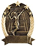 Etch Workz 6-1/4'' Tennis Awards - Five Gold Stars - Sports Theme Female Tennis Awards