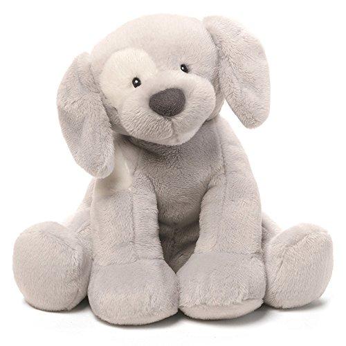 Baby GUND Spunky Dog Keywind Musical Stuffed Animal Plush, Gray, (Blue Spunky Puppy)