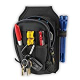 MaxLLTo Zipper Tool Belt Pouch w/ Carabiner Clip - 9 Pocket -Custom Leather craft- pack of 1